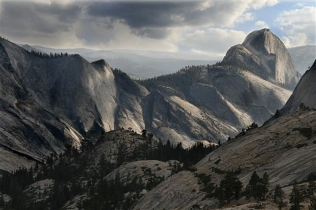 Yosemite's Half Dome as viewed from the high country near Olmstead Point.