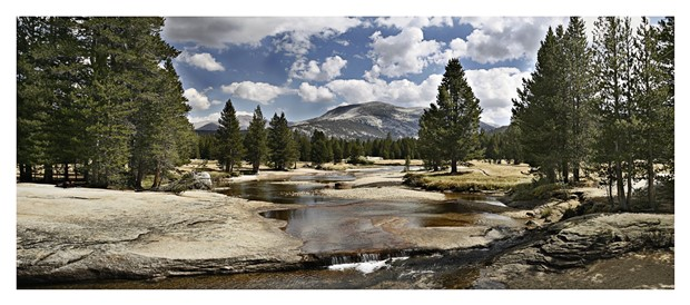 In the fall, when the water everywhere in Yosemite is low.