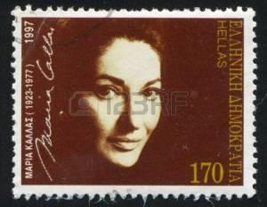 14174886-greece--circa-1997-stamp-printed-by-greece-shows-maria-callas-opera-singer-circa-1997