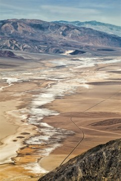 The salt flats of Death Valley National Park from 5000 feet.