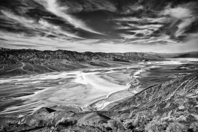 Death Valley salt flats from Dante's View.