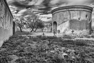 Funnerary of a 16th C. Spanish mission south of Tubac, AZ